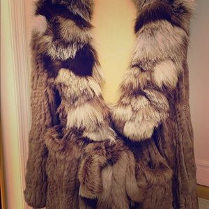 Fur Jacket with thick Shawl Collar